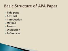 Research paper formats
